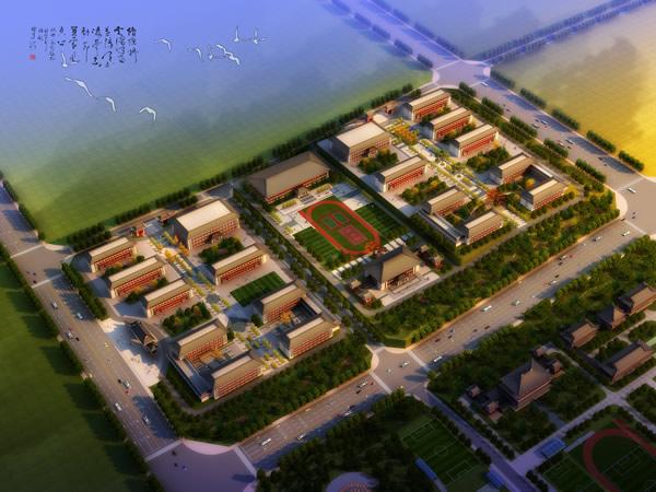 郑州体育职业学院整体效果图